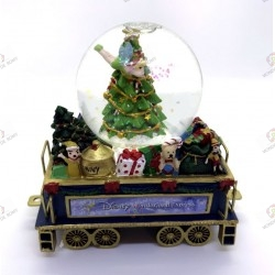 Wagon Bradford Exchange snow globe Christmas tree with tinker bell- Disney