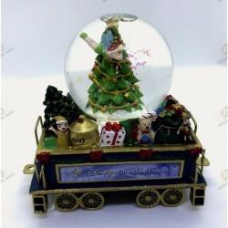 Wagon Bradford Exchange snow globe Christmas tree with tinker bell- Disney