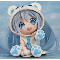 Figurine Vocaloid Nendoroid Hatsune Miku Blue Snow Bear face
