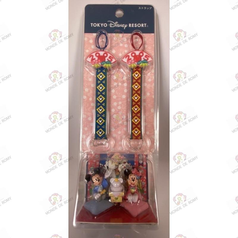 Disney - duo keychain of Happy New Years 2005- mickey and minnie