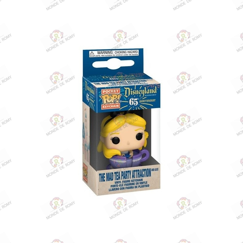 Funko Pop Keychain - Alice  At The Mad Tea Party Attraction