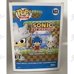 Funko Pop- Sonic The Hedgehog- Silver- Glow In The Dark- Special Edition