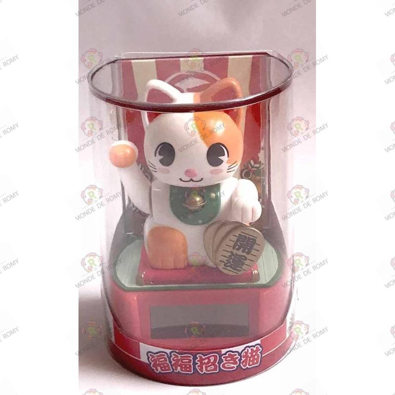 Maneki Neko tiger white solar automaton