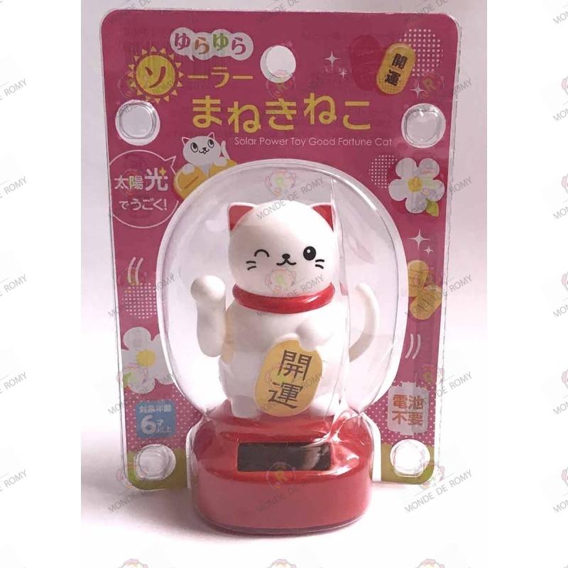 Petit Maneki Neko solaire blanc