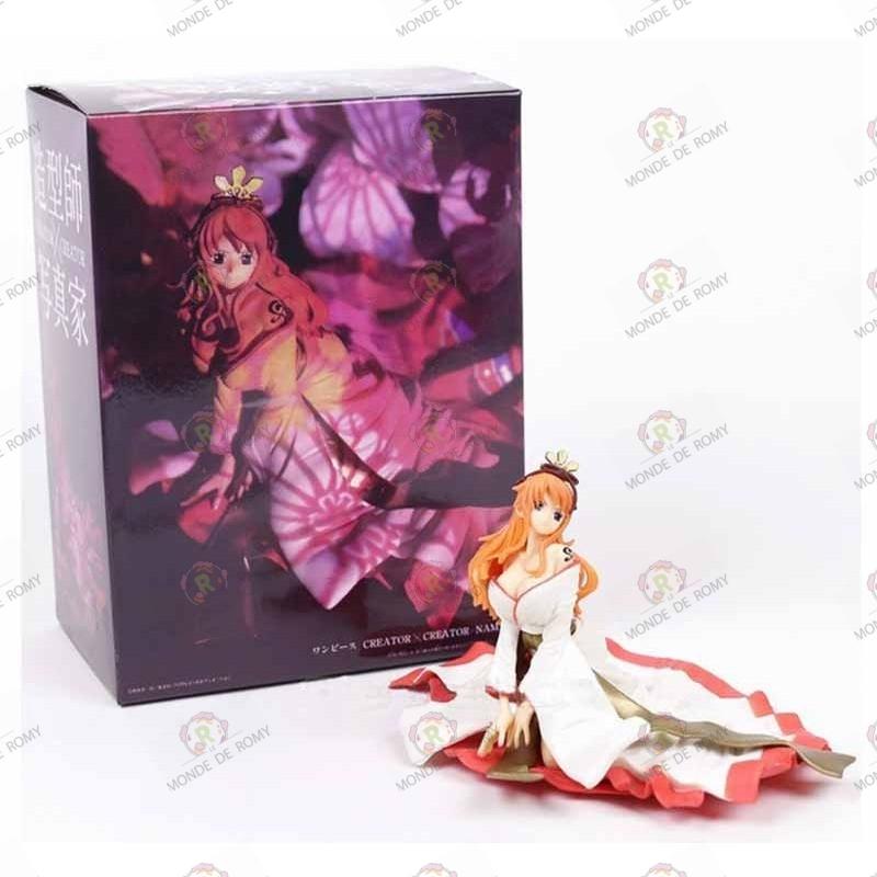 One Piece Figurine PVC Nami Kimono Blanc avec boite