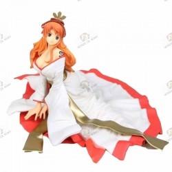 One Piece Figurine PVC Nami Kimono Blanc face