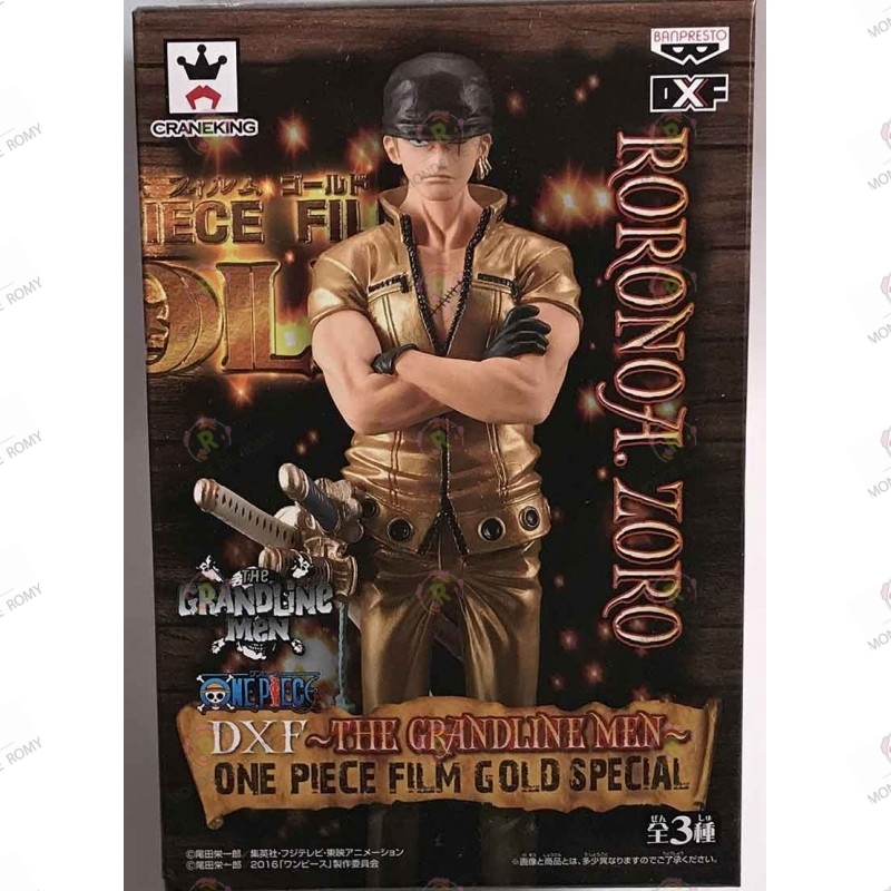 One Piece DXF the grandline men RORONOA ZORO One Piece Film Gold special boite