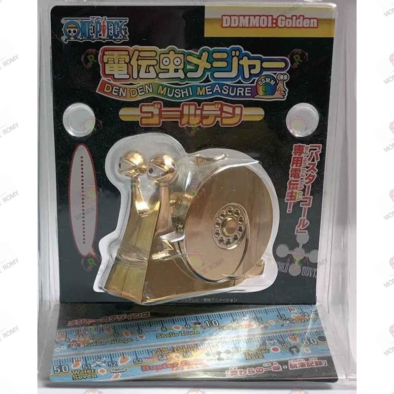 Mètre ruban One Piece Escargophone Den Den Mushi Doré Edition Limitée boite