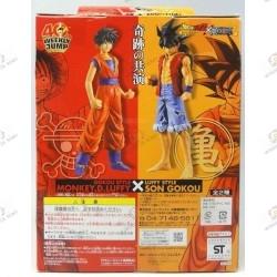 Son Goku de Dragon Ball Z en habit de Monkey D Luffy de One Piece boite dos