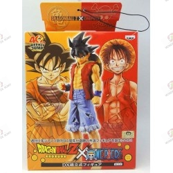 Son Goku de Dragon Ball Z en habit de Monkey D Luffy de One Piece boite face