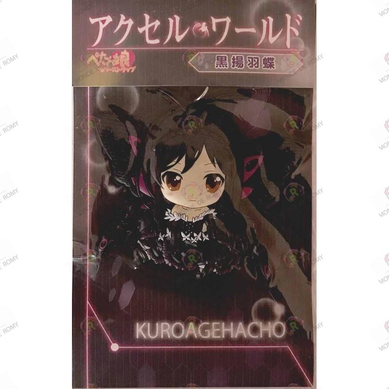 Rare Strap de Kuroyukihime de accel world en Kuroagehacho boite
