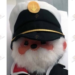 Captain Okita Peluche Kiki Monchhichi gros plan
