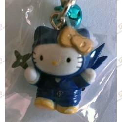 Strap Porte clefs Hello Kitty Ninja bleu  Iga Ninja Blue Netsuke gro plan