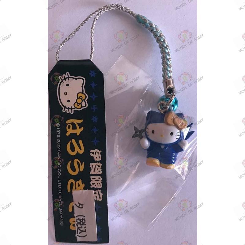 Strap Porte clefs Hello Kitty Ninja bleu Iga Ninja Blue Netsuke