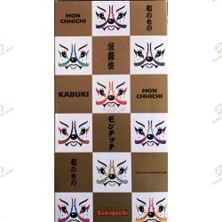 Monchhichi Kiki Kabuki Cheveux Blancs boite dos