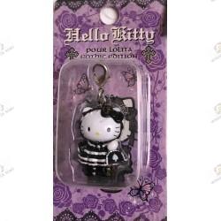 Strap Porte clefs Hello Kitty Pour Lolita Gothic edition by Novala Takemoto limited mascot-2005 boite gros plan