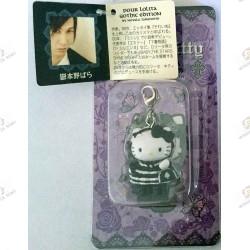 Strap Porte clefs Hello Kitty Pour Lolita Gothic edition by Novala Takemoto limited mascot-2005 boite et livret