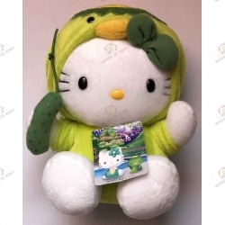 Plush Hello Kitty turtle with green bow