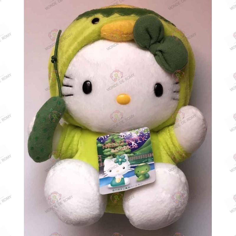 Peluche Hello Kitty Tortue avec nœud vert