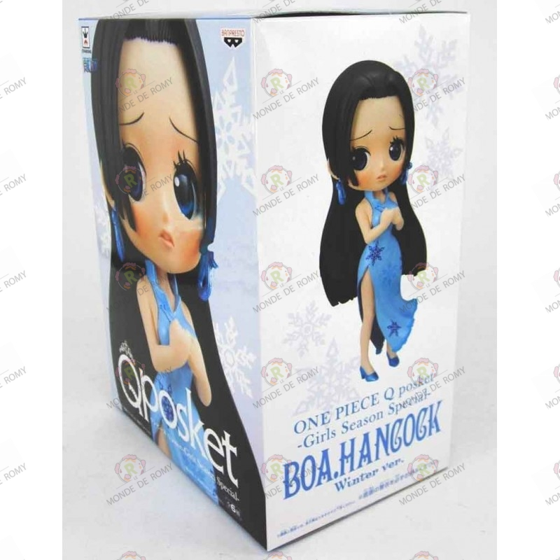 One Piece Figurine QPOSKET Boa Hancock Winter Blue Import Japon boite