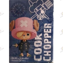 Figurine One Piece Tony Tony Chopper Sanji Ver. Pirate to Aim -New World with Ace boite dos