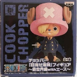 Figurine One Piece Tony Tony Chopper Sanji Ver. Pirate to Aim -New World with Ace boite