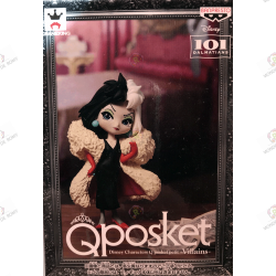 FIGURINE QPOSKET  Disney little  Villains: 101 Dalmatiens Cruella De Vil exclusive japan