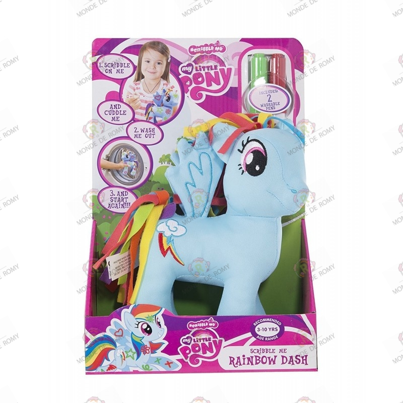 Peluche My Little Pony Rainbow Dash Scribble Me boite