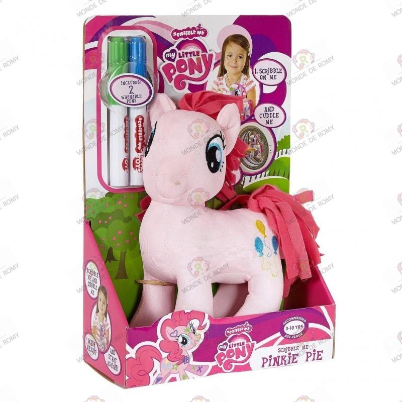 Peluche My Little Pony Pinkie Pie Scribble Me boite